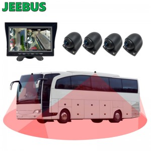 360 Bird View System 3D All Round View Parking Panorama Car Camera Security with Ultrason Parking Sensors